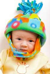 Baby Wearing Fleece Hat