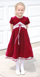 girl with a red velvet dress