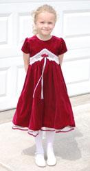 girl with a red velvet dress