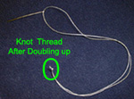 knotting thread when sewing on a button
