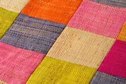patchwork of organic fabric