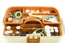 plastic sewing basket