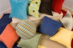 colourful throw pillows