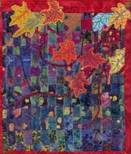 Quilted Wall Hanging by machine