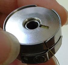 bobbin in its bobbin case